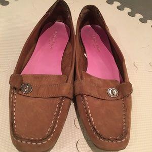Isaac Mizrahi tan loafers - Size 8.5